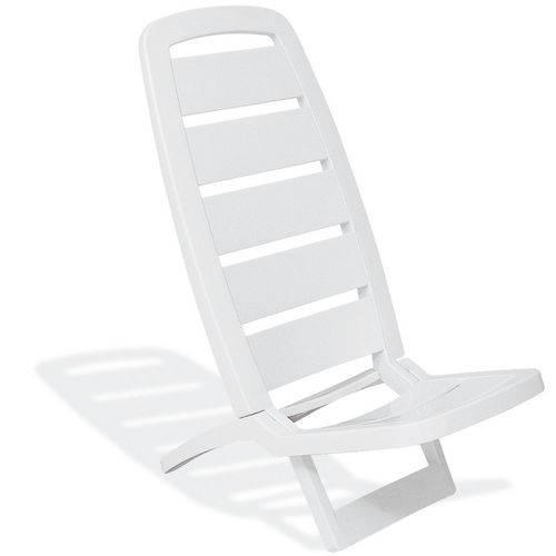 Cadeira Guarujá de Praia Branco Basic - Tramontina