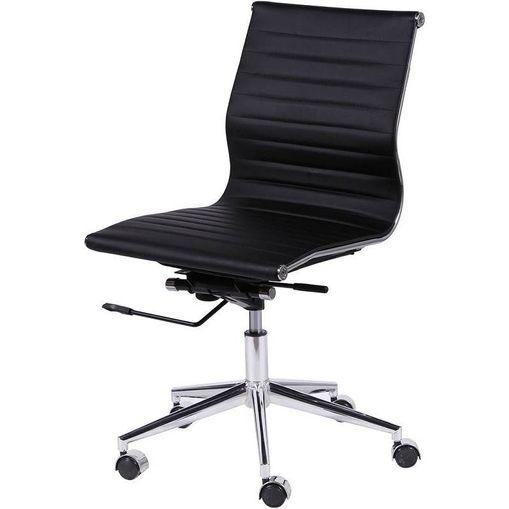 Cadeira Horizon Escritório Baixa Preta OR Design 3301