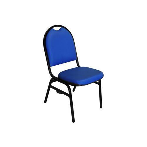 Cadeira Hoteleira Auditório Hotel Empilhável Fixa Azul - Pethiflex