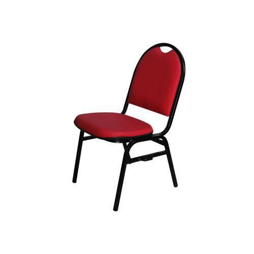 Cadeira Hoteleira Auditório Hotel Empilhável Fixa Vermelha - Pethiflex