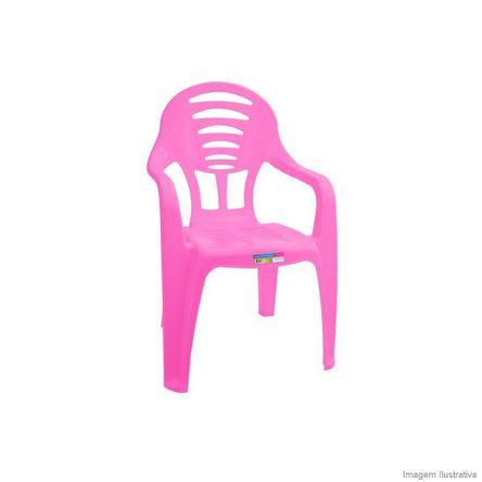 Cadeira Infantil com Braço Rosa Paramount Plásticos