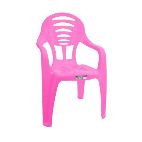Cadeira Infantil com Braço Rosa Ref 578 Paramount Plasticos