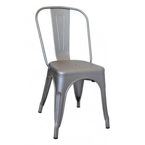 Cadeira Iron Tolix Aço Carbono - Prata
