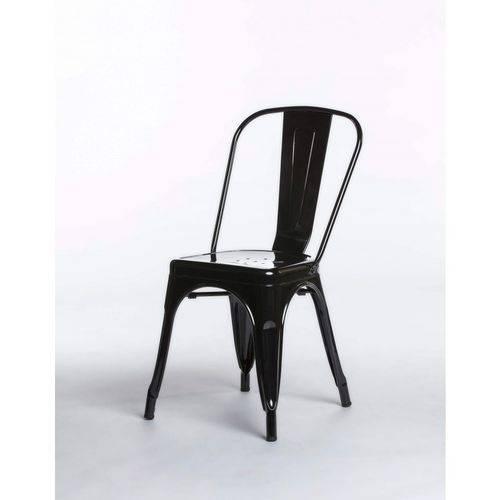 Cadeira Iron Tolix Aço Carbono - Preta
