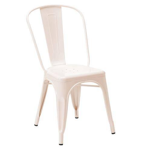 Cadeira Iron Tolix - Industrial - Aço - Vintage - Rosa Claro
