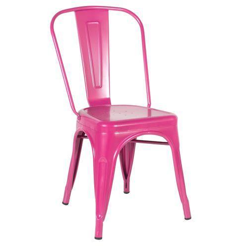 Cadeira Iron Tolix - Industrial - Aço - Vintage - Rosa