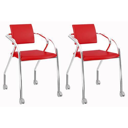 Cadeira Jersey Carraro Vermelho Real