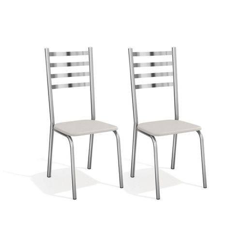 Cadeira Kappesberg Alemanha Cromada 2C086CR - Cor Cromada - Assento Branco 106