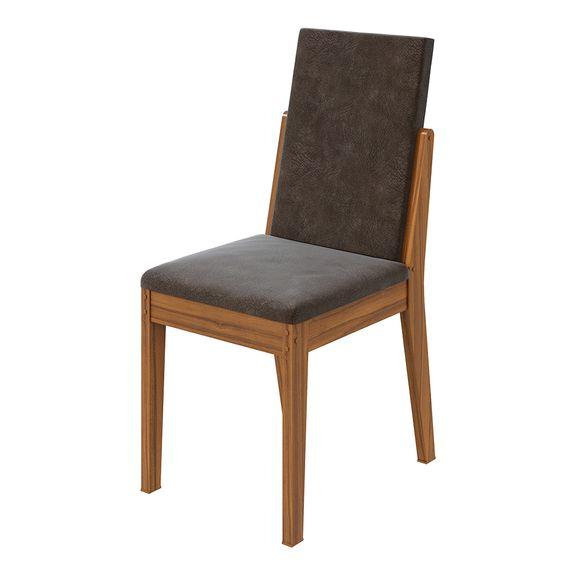 Cadeira Lira Velvet Chocolate - Rovere Naturale