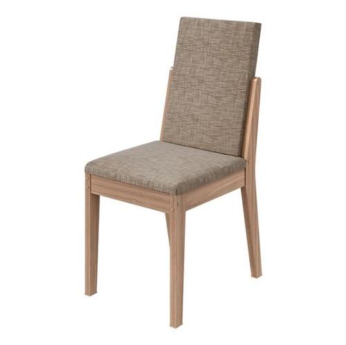 Cadeira Lira Velvet Riscado Bege - Carvalho Naturale