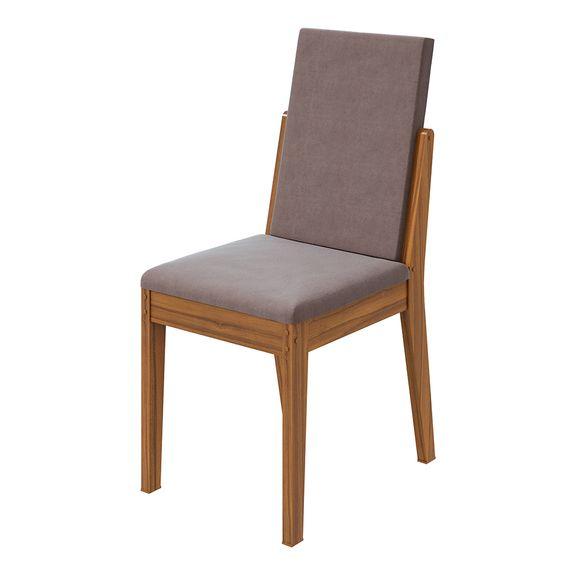 Cadeira Lira Velvet Rosê - Rovere Naturale