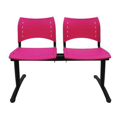 Cadeira Longarina 02 Lugares Evidence Rosa.