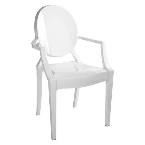 Cadeira Louis Ghost Branca Branca