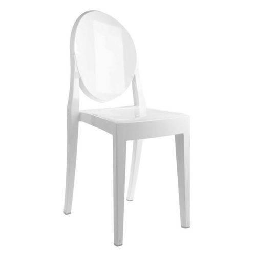 Cadeira Louis Ghost Policarbonato Branca