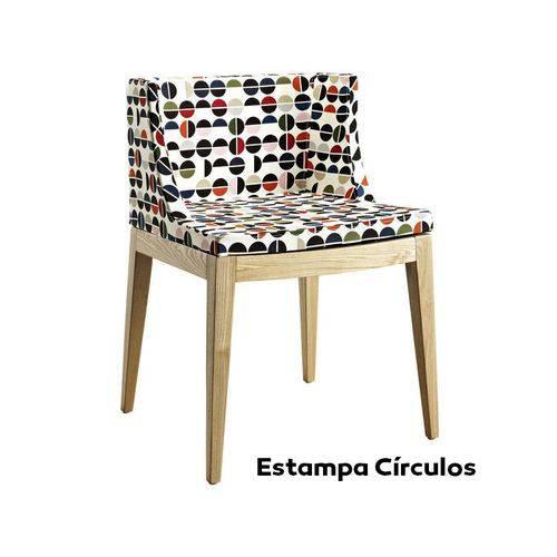 Cadeira Mademoiselle - Base Madeira - Estampa Colors