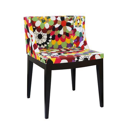 Cadeira Mademoiselle Estampa C - Madeira Escura Estampa C