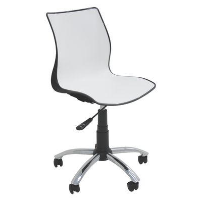 Cadeira Maja com Rodízio Preta/branca Tramontina