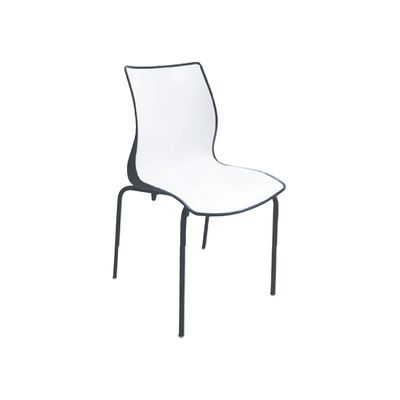 Cadeira Maja Pernas Pintadas Preta/branca Tramontina