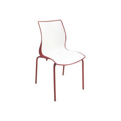 Cadeira Maja Pernas Pintadas Vermelha/branca Tramontina