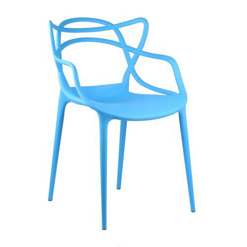 Cadeira Masters Azul em Polipropileno