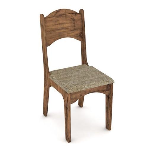 Cadeira Nina - Nobre Fosco | Chenille Marrom