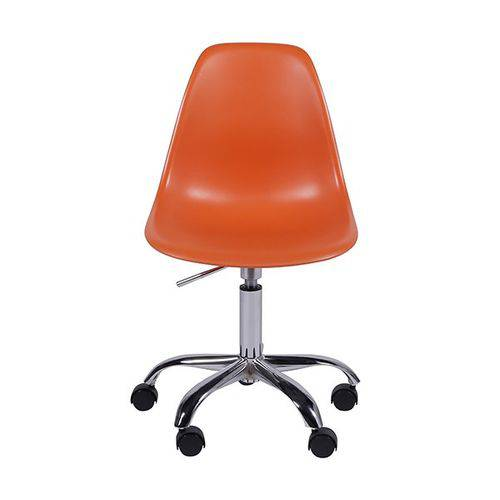 Cadeira Office Eames Dkr de Polipropileno Laranja