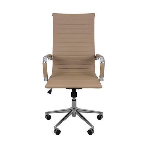 Cadeira Office Esteirinha Charles Eames Pu Alta Caramelo Inovakasa