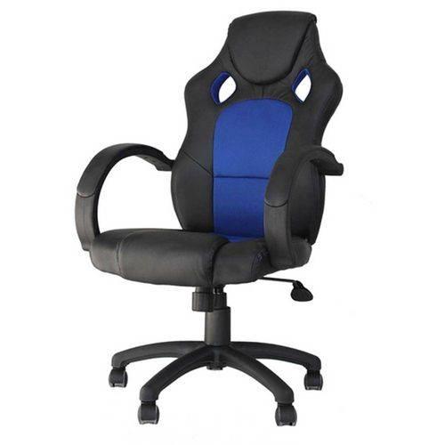 Cadeira Office Racer Preta e Azul - 27712