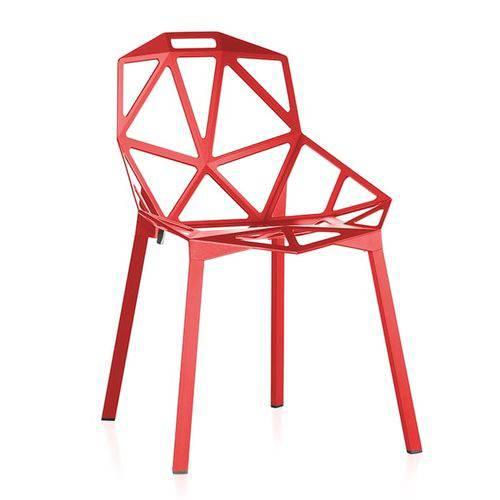 Cadeira One - Penélope - Design - Metal - Vermelho