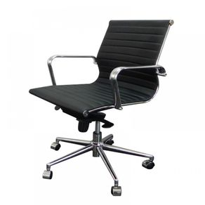 Cadeira Or Design Couro Ecológico OR-3301 Baixa Preto