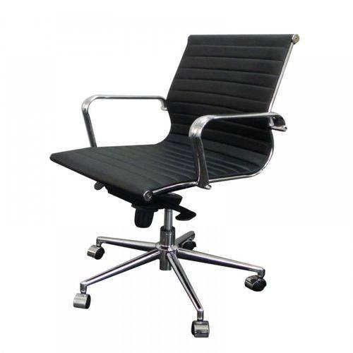 Cadeira Or Design Office Eames Esteirinha Baixa Giratória Or-3301 Preta