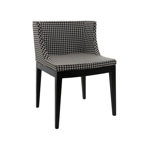 Cadeira Pied de Coq Tecido Wood Escura OR Design 1135/X