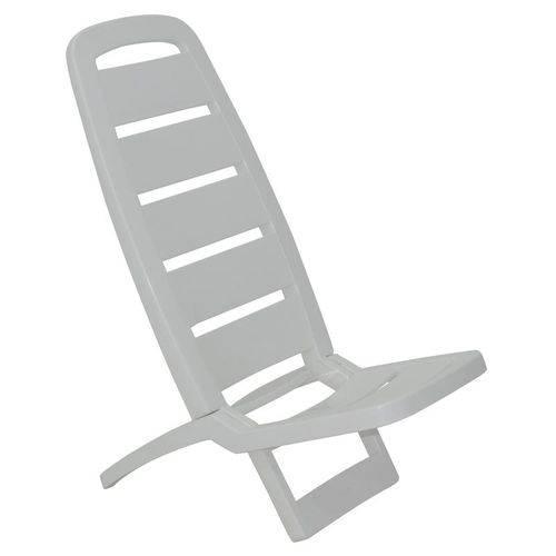 Cadeira Plastica Dobravel Guaruja Branca