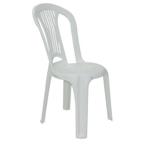 Cadeira Plastica Monobloco Atlantida Economy Branca
