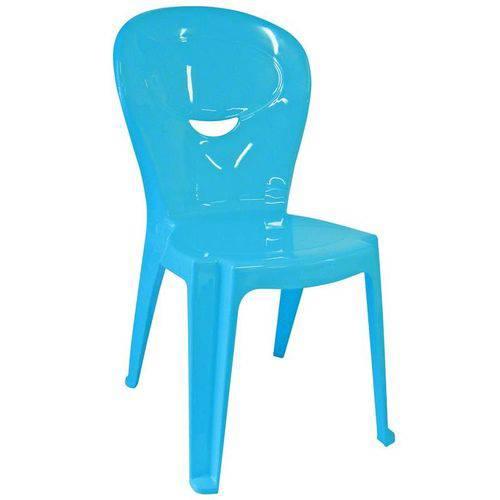 Cadeira Plastica Monobloco Infantil Vice Azul