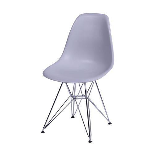 Cadeira Polipropileno Base em Metal OR Design Cinza