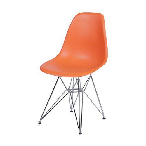 Cadeira Polipropileno Base em Metal OR Design Laranja