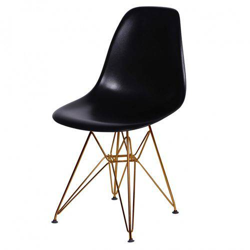 Cadeira Polipropileno Base em Metal OR Design Preta