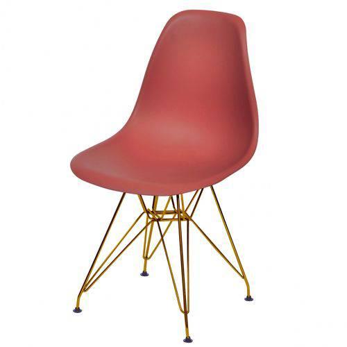 Cadeira Polipropileno Base em Metal OR Design Telha
