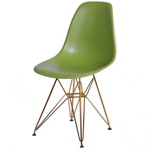 Cadeira Polipropileno Base em Metal OR Design Verde
