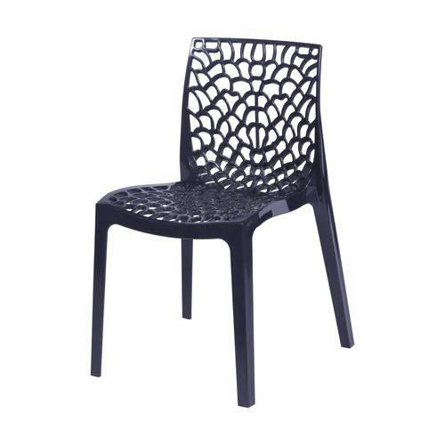 Cadeira Polipropileno Vazado Gruvyer OR Design Preto
