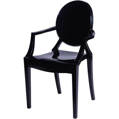 Cadeira Princess Preta PC OR Design 1106