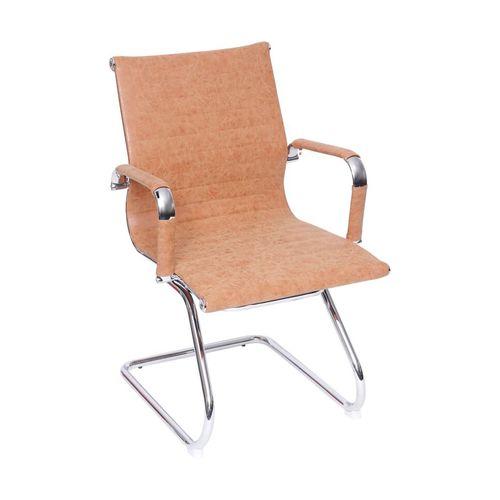 Cadeira Recepção Esteirinha Fixa - Caramelo Envelhecido Caramelo Envelhecido