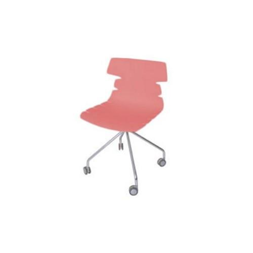 Cadeira Ripe com Rodizio Falkk Fl-022 Vermelha