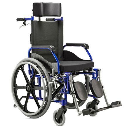 Cadeira Rodas Reclinável - Ortopedia Jaguaribe - Ágile - Azul 44