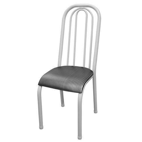 Cadeira Roma Alta Branco e Preto