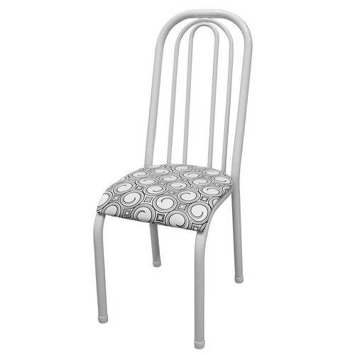 Cadeira Roma Alta Preto e Branco
