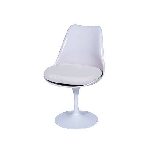 Cadeira Saarinem Sem Braço com Almofada - Branca-alm-branca