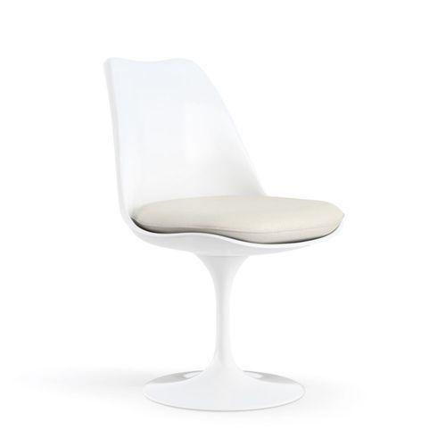 Cadeira Saarinen Tulip Branca- Assento Branco Branca