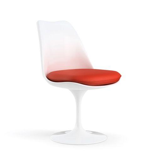 Cadeira Saarinen Tulip Branca - Assento Vermelho Vermelho